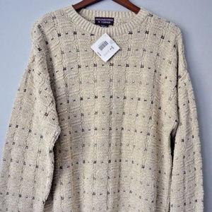 Roundtree & Yorke Large Cotton Sweater Beige